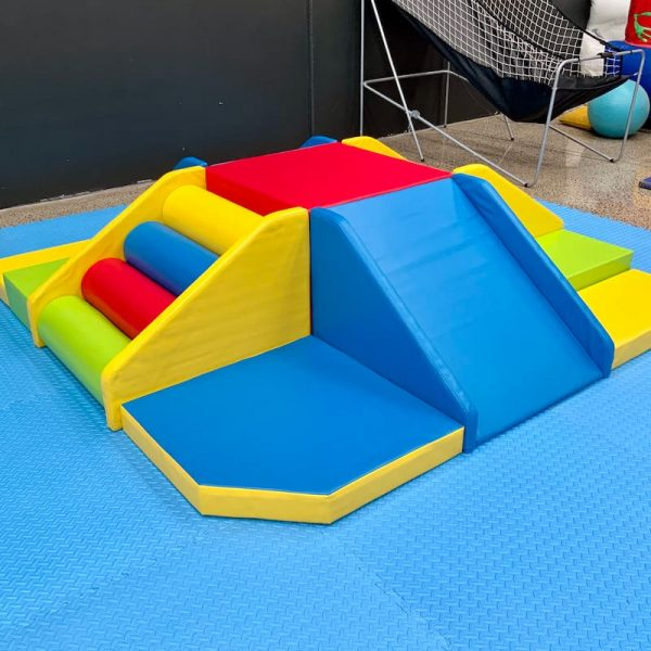 Lots of Fun Combo Soft Play to Climb and Slide for Kids Party Hire