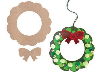 Christmas Wreath that's been Decorated