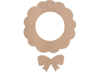Blank Christmas Wreath to be Decorated