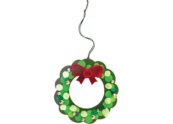 Christmas Wreath that has been Decorated