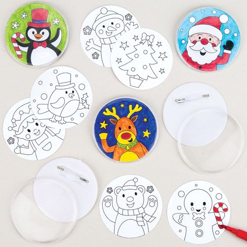 Badge Decorating Activity for Kids Parties
