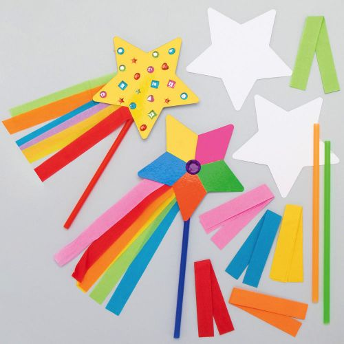 Magic Wand that has been Decorated for Kids Parties
