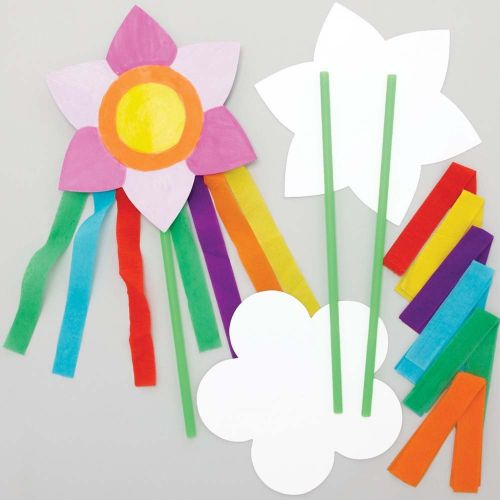 Flower Magic Wand that has been Decorated for Kids Parties