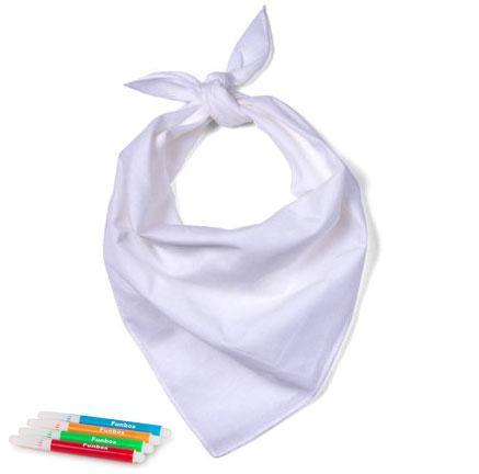 Blank Bandana to be Decorated for Kids Parties