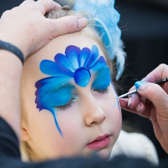 Child Getting Their Face Painted