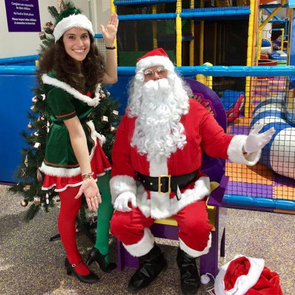 Santa and Christmas Elf Entertainer